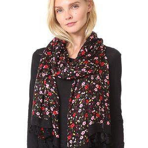 Kate Spade floral tassel scarf